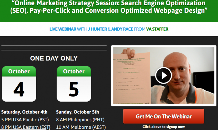 Online Marketing Strategy Session Webinar