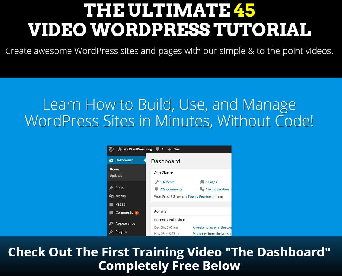 WordPress Tutorial Videos: Use, Build, and Manage