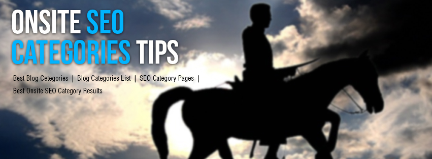 Onsite SEO Categories Tips