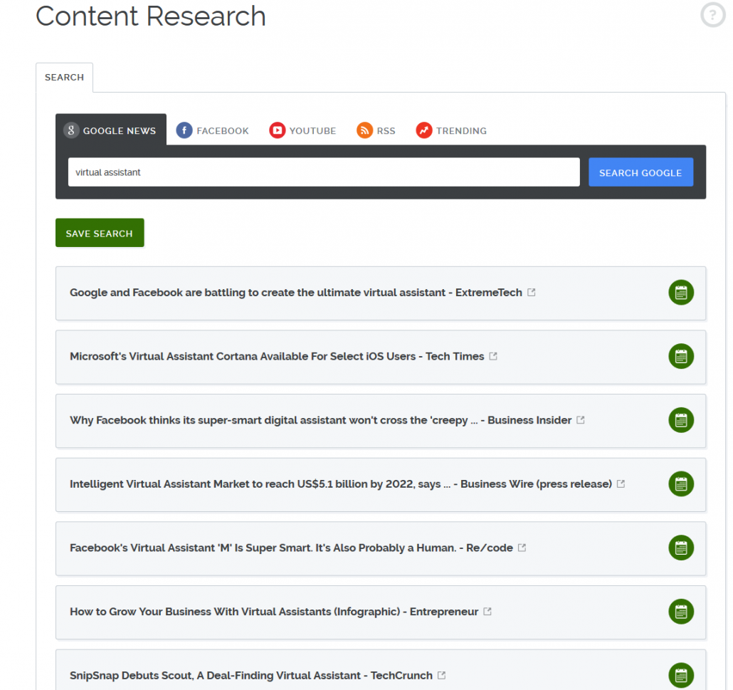 Social Media Content Research