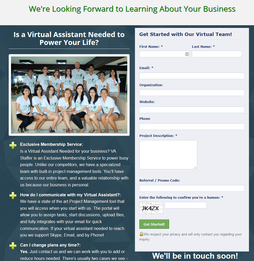 Landing Page Conversion Rate Winner